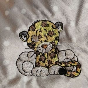 Other - Self Embroidered Baby Blanket. Cheetah.